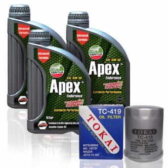 PERTUA Apex Synthetic Performance Oil Change Bundle for Mitsubishi Mirage