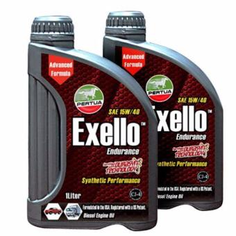 Pertua Exello Synthetic Performance Diesel Engine Oil SAE 15W/40 1L Pack of 2