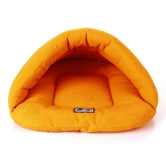 Pet Cat Bed Small Dog Puppy Kennel Sofa Polar Fleece Material PetBed - Orange XS - intl - 3