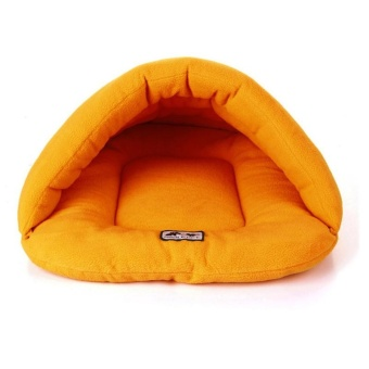 Pet Cat Bed Small Dog Puppy Kennel Sofa Polar Fleece Material PetBed - Orange XS - intl