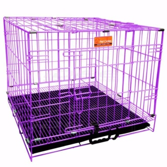 Pet Crates EL-1.5 Foldable Dog Cage w/ Plastic tray (Purple)