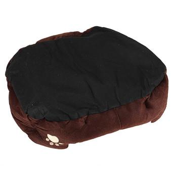Pet Dog Puppy Cat Soft Fleece Warm Nest Bed Plush Pad CottonMatHouse Coffee - 4