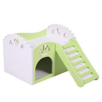 Pet Hamster/Mice Guinea Pig Small Animal Play Castle Sleeping House/Nest(Green) - intl - 4
