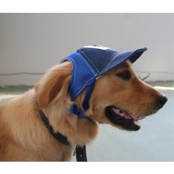 Pet Puppy Dog Cap Baseball Sunhat Adjustable Corduroy Hat Costume (S) - intl