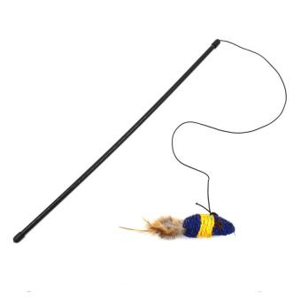 Petpals Rat Wand Cat Toy (Blue/Yellow)