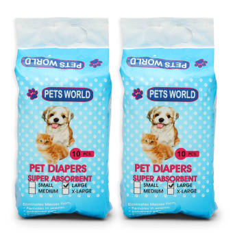 Pets World 10-Piece Large Pet Diapers (Set of 2)