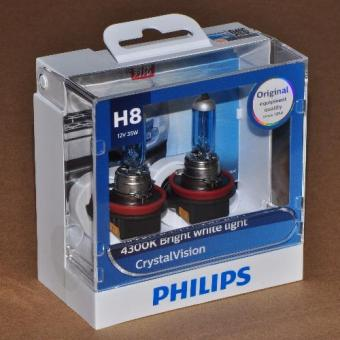 Philips Crystal Vision H8 headlight/ foglight replacement bulb