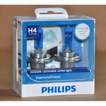 Philips Diamond Vision H4 headlamp replacement bulb - PAIR