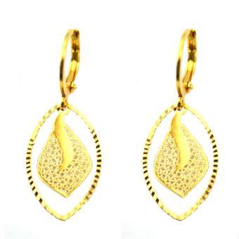 Piedras jewelry 18 k micron plating drop earring - 2