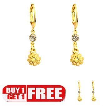 Piedras jewelry 18 k micron plating drop earring buy one take one