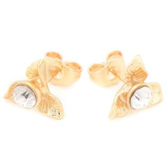 Piedras jewelry 18 k micron plating stud earring - 2