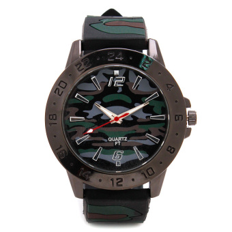 Piedras Men's Multicolor Silicone Watch Strap wt37