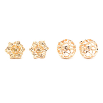 Piedras SUNA12 Two in One Earrings (Yellow Gold) - picture 2