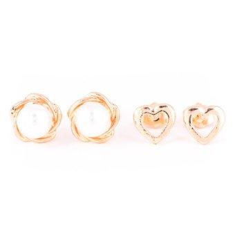 Piedras Two in One Earrings (Gold)