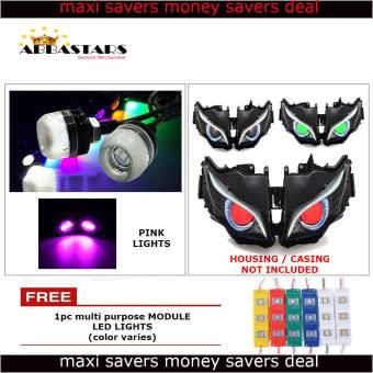 Pink Motorcycle LED Light Eagle Eye DRL Light Bulb for for Yamaha Mio Sporty