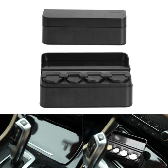 Plastics Car Coin Organizer Case Loose Change Money Storage BoxContainer Money Coin Holders Organizer Moeda 4 Grid - intl