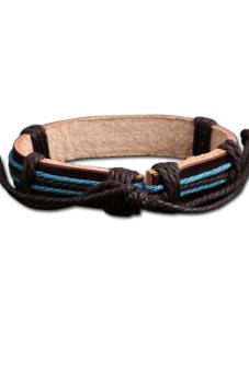 Plate Braid Bracelet (Brown)
