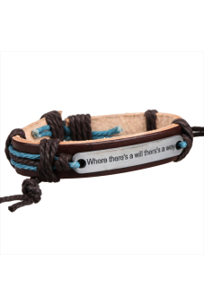Plate Braid Bracelet (Brown) - picture 2
