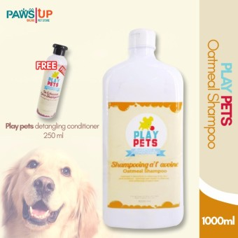 Play pets Oatmeal Shampoo and Conditioner 1000 ml Bundle
