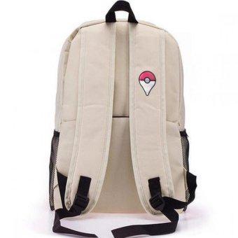 Pokemon Go Plus Laptop Backpack With Hidden Back Pocket (Cream) - 2