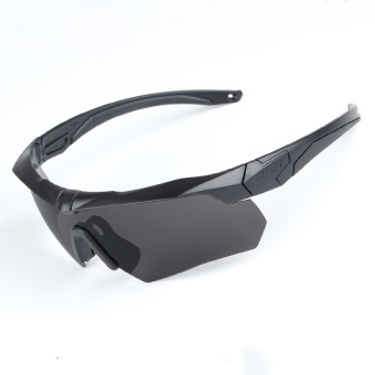 Polarized Cycling Sunglasses Tactical Military Glasses Army Goggles 3 Lens TR90 Safety Glasses - intl
