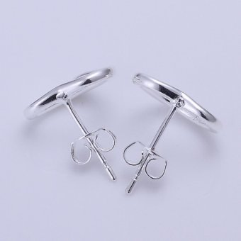 Popcorn E099 Silver Plated Fashion and Warm Heart Earrings(Silver) - 4