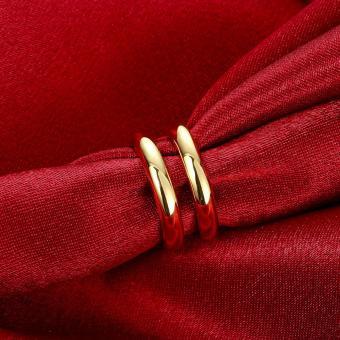 Popcorn R064-A Korea Bicyclic Opening & Adjustable WeddingRing(Gold) - 4