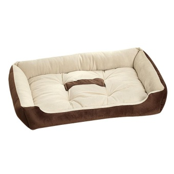 Popular Big Size Large Dog Bed Kennel Mat Soft Fleece Pet Dog PuppyWarm Bed House Plush - Coffee XS - intl