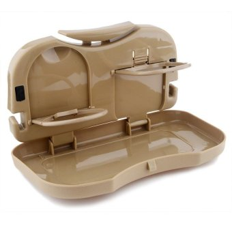 Portable Car Tray and Cup Holder (Brown) - 2