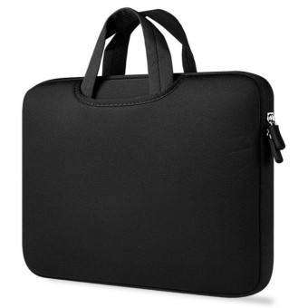 Portable Fashion Soft Sleeve Laptop Bag Case Briefcase Handlebag Pouch For 15.6 inch Laptop Notebook(Black) - intl