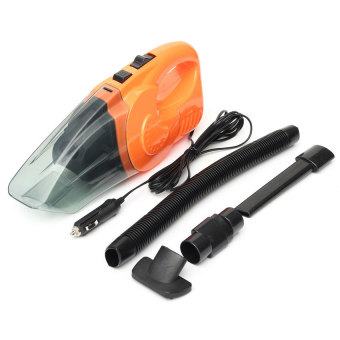Portable Handheld Car Vacuum Cleaner High Power Super Suction WetDry Car Care Kits 120W (Orange) Price Philippines
