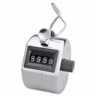 Portable Handy 4 Digits Metal Tally Number Golf Test Lap CounterNumber Clicker - intl