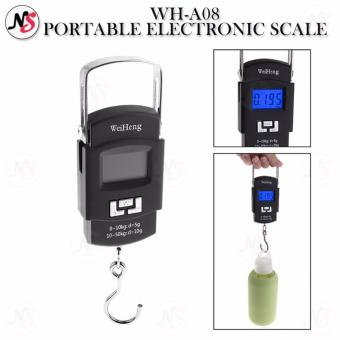 Portable Hanging Electronic Digital Weighing Scale 50kg WH-A08 (Black)