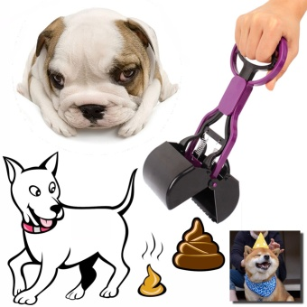 Portable Long Handle Pet Dog and Cat Poop Scooper Pet Dog Waste BagHolder Dogs Toilets Poop Easy Pick Up Cleaning Tools - intl