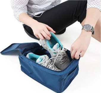 Portable Shoes Bag Organizer Storage Waterproof Tote Pouch PocketPacking Cubes Handle Nylon Zipper Bag for Travel Outdoor Sports -intl