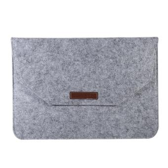 Portable Soft Laptop Sleeve Cover Anti-scratch Bag For (13inch Grey) - intl