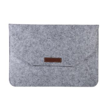 Portable Soft Laptop Sleeve Cover Anti-scratch Bag For (15inch Grey) - intl