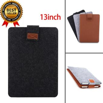 Portable Soft Laptop Sleeve Cover Anti-scratch Bag For Macbook Air Pro Retina(13inch Dark Grey) - intl