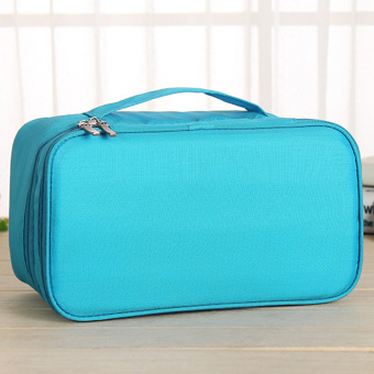 Portable Toiletry Bag Cosmetic Pouch (Sky Blue) (Intl)