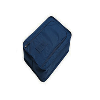 Portable Tote Shoes Pouch Waterproof Storage Bag ( Navy Blue)