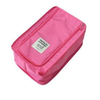 Portable Wanna be A Traveler Foldable Slippers Sandals Shoe NylonTravel Pouch Organizer Bag (Rose Pink) Price Philippines
