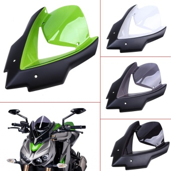 Possbay 1x Black ABS Front Windscreen Windshield With Bolts ForKawasaki Z1000 2015-2016 - intl