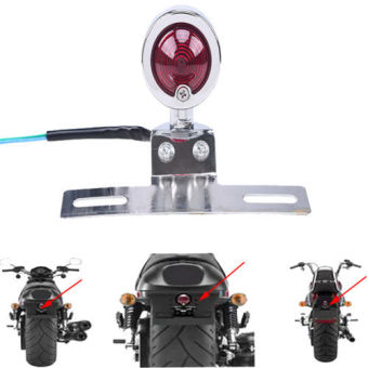 Possbay Motorcycle Rear Bullet Brake Tail Turn Signal Light LicensePlate Mount Holder - Intl