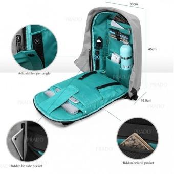 PRADO Anti Theft Backpack Grade A OEM Design Bag Bobby XDInspiredKK2236 - Grey - intl - 3