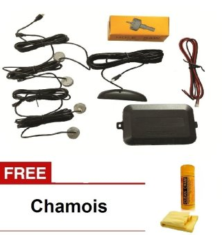 Premium Parking Sensor (Silver) with Free Chamois Price Philippines