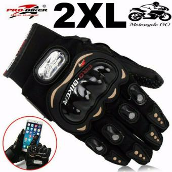 Pro-Biker Carbon Fiber Bike Motorcycle Motorbike Racing Gloves Black (XXL)