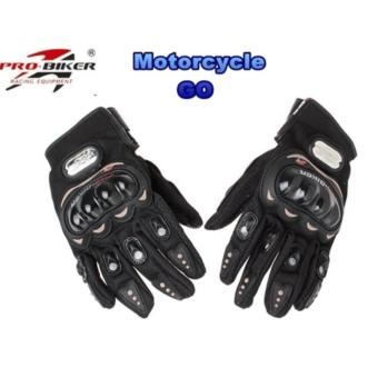 Pro-Biker Carbon Fiber Bike Motorcycle Motorbike Racing GlovesBlack (L)