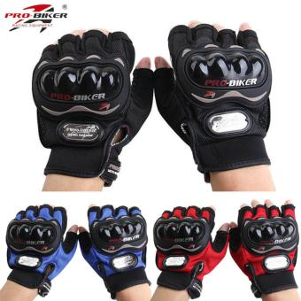 Pro-biker Fingerless Motorcycle Gloves Half Finger GuantesMotorcross Bicycle Riding Racing Cycling Sport Gears BreathableLuvas XL (Black)