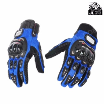 Pro-Biker Motorcycle Riding Hand Full Finger Protection Gloves XL (Blue)