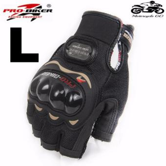 PRO-BIKER Sports Racing Short Gloves Gloves Motorcycle Racing Motorbike Motorcycle Fingerless Outdoor Sports Gloves L (Black) Price Philippines